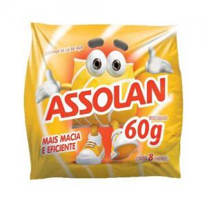 Esponja de Lã de Aço Assolan 60g