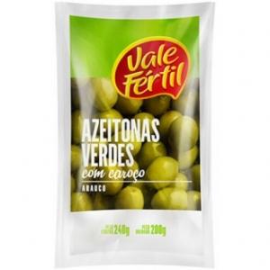 Azeitona Verde com Caroço Vale Fértil 200g