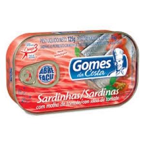 Sardinha ao molho de tomate Gomes da Costa 125g