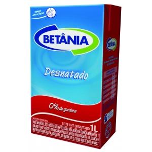 Leite UHT Desnatado Betânia 1l