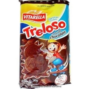 Biscoito recheado Sabor chocolate Treloso 390g