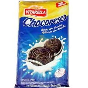 Biscoito recheado Chocoresco baunilha Vitarella 390g