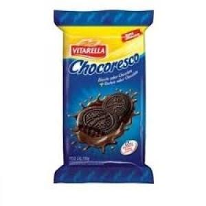 Biscoito recheado Chocoresco chocolate Vitarella 390g