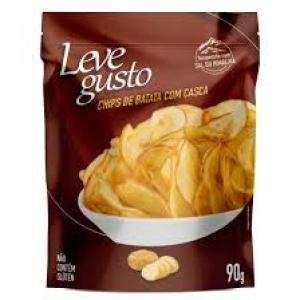Chips de Batata com casca com sal do Himalaia Leve Gusto 90g