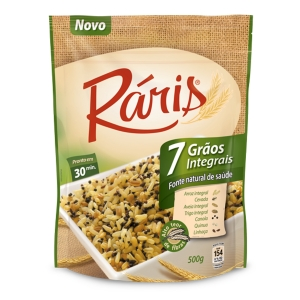 Arroz integral 7 cereais Raris 500g