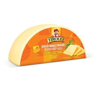 Queijo Minas Padrão Zero lactose Light Tirolez 350g