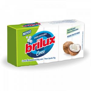 SABÃO EM BARRA COCO C/5 1KG BRILUX