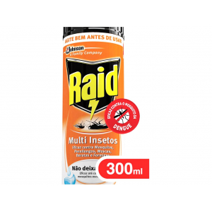 INSETICIDA AEROSOL MULTI INSETOS 300ML RAID