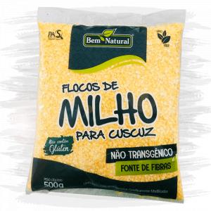 FLOCOS MILHO NÃO TRANSGÊNICO 500G BEM NATURAL